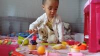 益智早教玩具270 厨房玩具男孩女孩做饭煮饭厨具餐具儿童玩具 亲子益智游戏 蛋糕切切乐 蔬菜切切乐 水果切切看 过家家玩具总动员 奇趣蛋玩具儿歌视频
