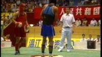 第七届全运会武术散打比赛 01单元 007 男子56kg 红方(河北)VS 黑方(陕西)