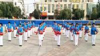 遵化开心广场舞,开元健身舞蹈腰鼓队在人民公园练习打腰鼓