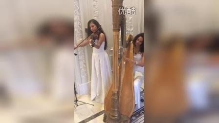 外籍竖琴+外籍小提琴|外籍弦乐演出|外籍乐队|北京旭熠国际文化传媒