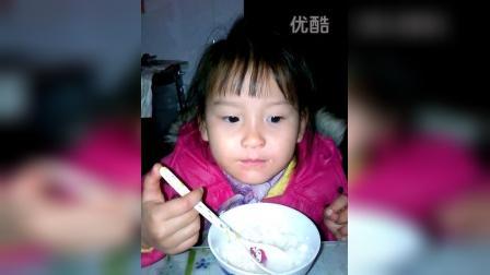 2015-01-09 妈妈一直不吃酒酿年糕的所以妈妈吃饭