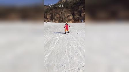 堂堂学滑雪