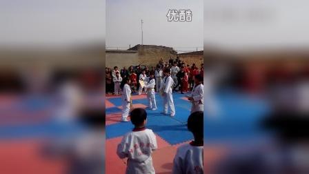 河北省 文安县 大留镇 小务村 梦想跆拳道 武术表演