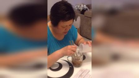 给妈妈喝水果酵素像果冻一样的山楂味道