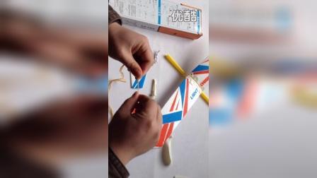 中天模型轻骑士橡筋动力飞机制作视频