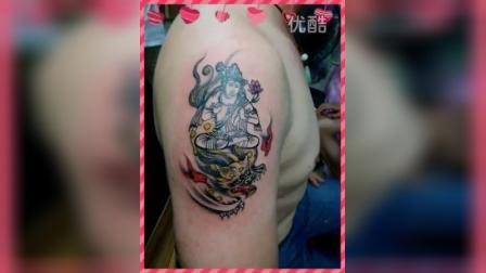 肩部菩萨纹身图案