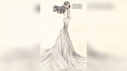纯手工绘制婚纱