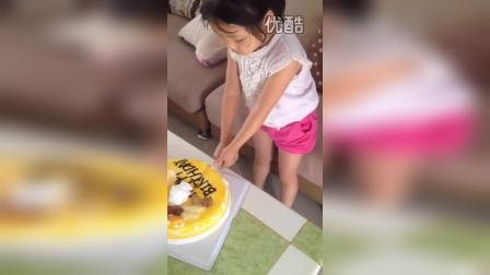 胡优可2015年生日切蛋糕