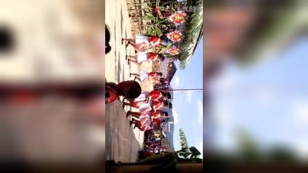 2014年。云南西双版纳。勐腊县,尚勇镇,老陶寨。老挝点三苗族同胞。舞蹈演出。
