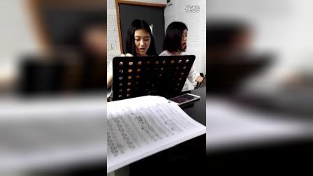 韶关学院歌剧中心排练精彩瞬间2016年5月9日下午2:30
