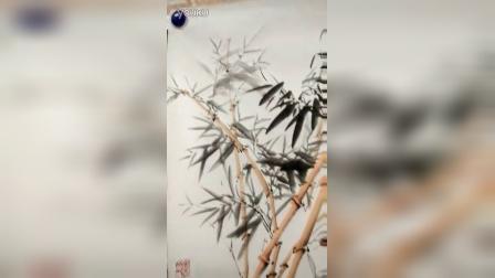 安吉竹人画家孙永全牡丹作品《富贵吉祥》