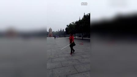 洛阳牡丹剑《剑穗花集锦》左右手  演练者马翠霞