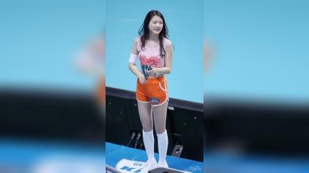 180220 韩国职业排球联赛 啦啦队美女 천온유 加油