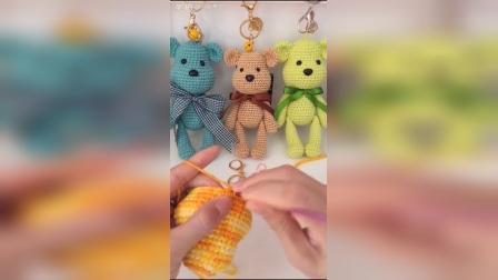 小米手工(第29集)钩针编织玩偶公仔毛绒玩具暴力熊教程
