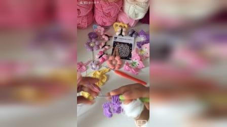 小米手工(第59集)钩针编织一线连蝴蝶腰带项链教程