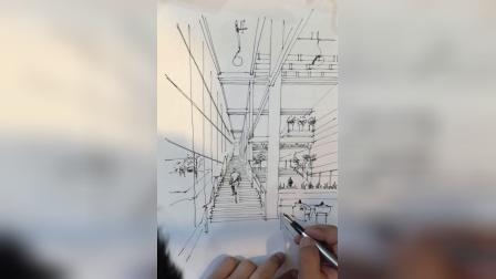公共空间设计手稿方案步骤图——赵恒逸