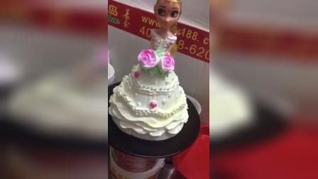 芭比娃娃蛋糕裱花做法大全公主蛋糕怎么做的裱花蛋糕成品制作视频