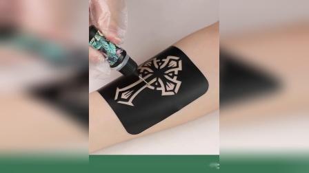 网红纹身贴防水男女持久花臂刺青图案模板纸不永久 1年纹身膏果汁
