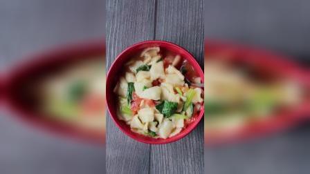 懒人早餐面片:简单快捷的懒人面,清淡又美味