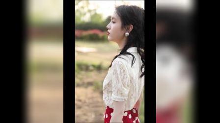 君晓天云歌其妮夏季复古显瘦套装女蕾丝上衣波点半身裙洋派网红气质两件套