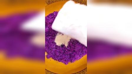 紫薯大馒头这样做出来一锅不够吃