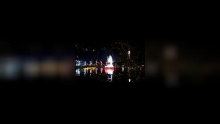 广东河源的万绿湖夜景