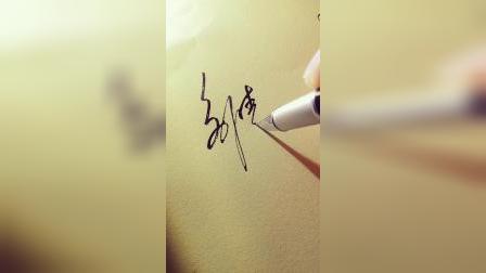 说出你签名的难点,笔画多?还是难连笔?我来想方案