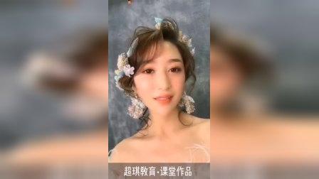 兰州化妆学校日韩新风课堂作品
