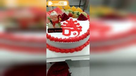 创意蛋糕,红色水果寿生日蛋糕!