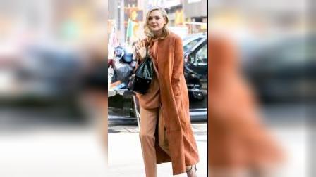 美女穿长款外套,显瘦又有气质,好看到犯规!