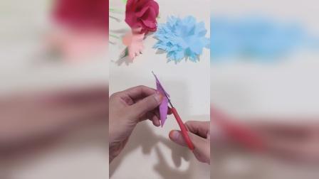 用彩纸做雪绒花,一眼就看会,真是太漂亮了!