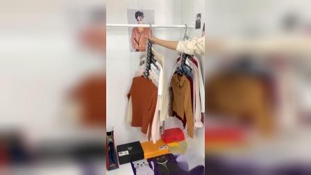 家里衣柜小,衣服不好整理,女闺蜜给我推荐了这个