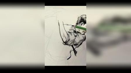 杭州画室-将军画室速写人物示范