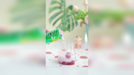 葡萄冰的神仙喝法,雪碧、养乐多、葡萄冰这夏天来一口不要太爽了