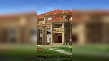 欧式三层别墅设计图,复式独幢农村自建房