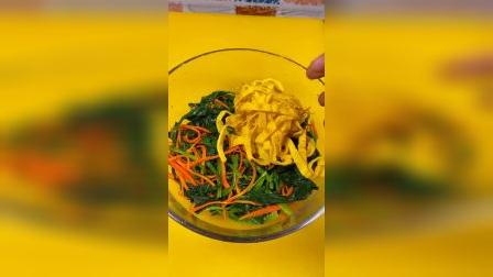 凉拌粉丝菠菜,最最最好吃的下饭菜,赶快学起来