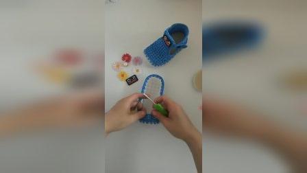 玲儿手工编织坊第四十五集儿童包头凉鞋教程(一)