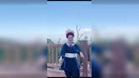 清远连南瑶族姑娘油岭瑶寨莎幺妹雪萍跳舞