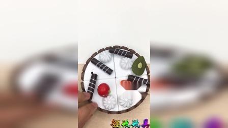 开始切生日蛋糕啦,儿童切切乐玩具