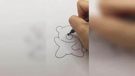 可爱小熊#简笔画