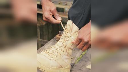 君晓天云火蓝刀锋超轻07作战靴男战术靴登山靴军迷军靴陆战靴夏季帆布靴子