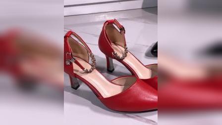 君晓天云拉丁舞鞋女高跟夏季新款舞蹈鞋社交舞鞋真皮广场舞鞋跳舞女鞋软底