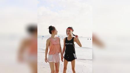 暴走的萝莉 运动短裤女跑步马拉鬆速干休闲瑜伽健身防走光三分裤