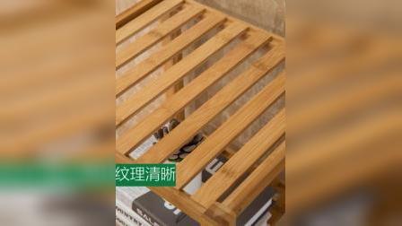 君晓天云竹庭饮水机架子实木置物架卧室落地简约木架子客厅简易架子多层架