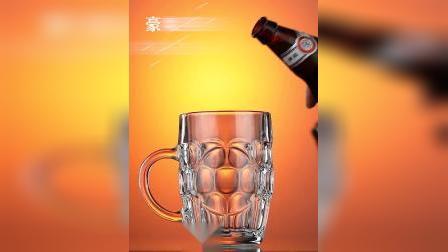 君晓天云啤酒杯抖音大容量酒吧专用精酿个性玻璃世界盃家用网红大号扎啤杯