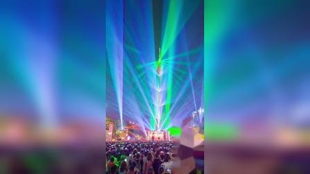广州市天河区海心沙,广州塔的灯光节!!!,,,,,,。二零一八年十月。