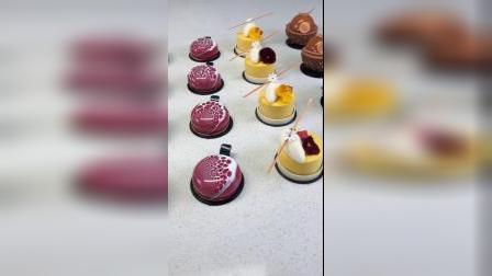 法式西点烘焙慕斯蛋糕,零基础学生练习作品,部分作品,各种口味搭配,各种实用装饰技巧