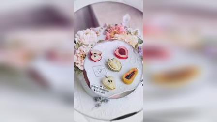 小视频新功能尝试一下,手工豆沙裱花蛋糕,韩式裱花蛋糕,手绘浮雕蛋糕,生日蛋糕,学生作品