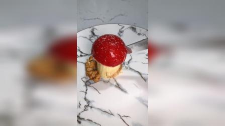 巧克力镜面淋面香草巧克力慕斯树莓乳酪芝士覆盆子库里夹心酸樱桃水果夹心杏仁饼底酥脆饼干青岛怪叔手工法式西点烘焙