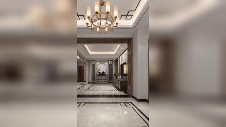 别墅装修设计,高档住房装饰设计,新中式室内设计